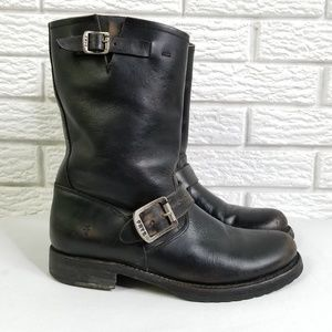 Frye Veronica Short Motorcycle Boots 7 Stonewashed